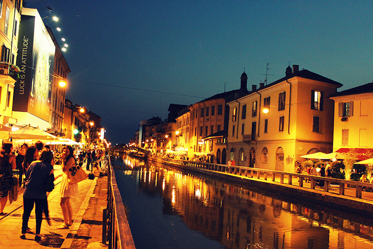 Art Hotel Navigli Milan Street View at Night